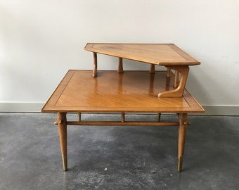 Vintage Mid Century Modern Lane Corner Table. Antique Furniture. Retro  Decor.