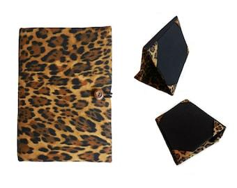 iPad Mini 4 Case Stand, iPad Mini 2 3 4 Cover, Standable iPad Case with Pocket, iPad Cover, iPad 2 3 4 5 Cover Stand, Jaguar Animal Print