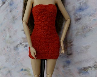 Fashion Doll Clothes, short dress for Barbie, red barbie dress, barbie clothes