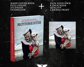 Mothmeister - hard cover book + pick your own 8 inch high quality lambdaprint