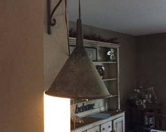 Vintage Funnel Lamp - Funnel Lamp - Funnel Light - Industrial Light - Industrial Lamp - Vintage Metal Light - Metal Shade Pendant Lamp