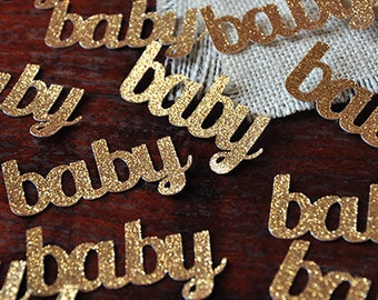 Baby Confetti for Baby Shower Table Decoration 25CT.  Handcrafted in 2-5 Business Days.