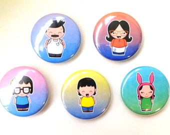Bob's Burgers Cute Kawaii Pin Badge - 25mm