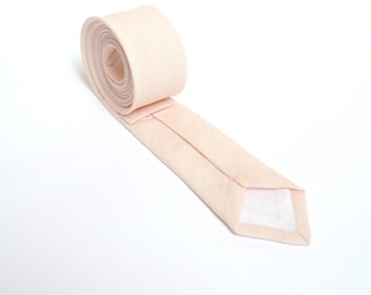 Peach Necktie For Wedding / - Necktie For Groomsmen / Peach Pocket Square With Necktie / Peach Men Necktie / Peach Bow tie For Men
