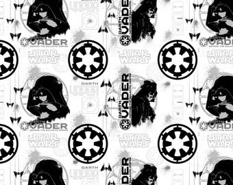 Star Wars Roque One - Darth Vader White from Camelot Fabrics