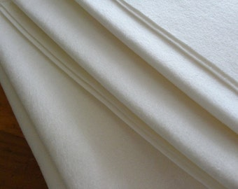 cream or white pure wool felt 1m x 180cm *craft *embroidery