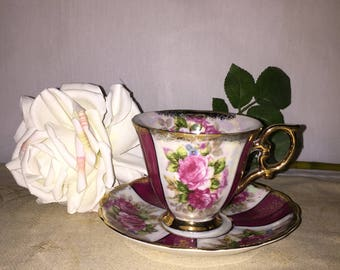 Vintage Lipper & Mann Royal Halsey Tea Cup and Saucer
