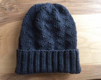 Dark grey wool hat for man / woman