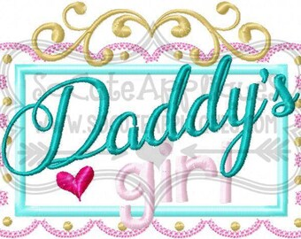 Daddy's Girl!!! Embroidered Shirt, Bodysuit, Burp Cloth, Dish Towel and more!
