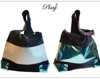 Platey Blue Mirror Bag