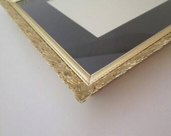 Wedding Frame, 8x10 frame, Vintage, Filigree Photo Frame, 9x11 frame, metal picture frame, Art Nouveau decor, Gold frame, wedding table