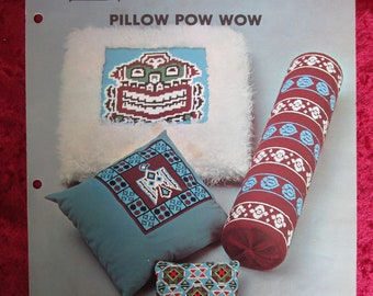 Spinnerin Popover Pillow Pow Wow Folio #323 Needlepoint