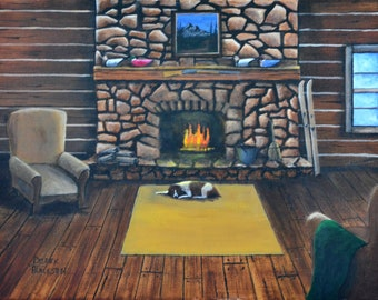 Lazy day at the cabin - an original painting