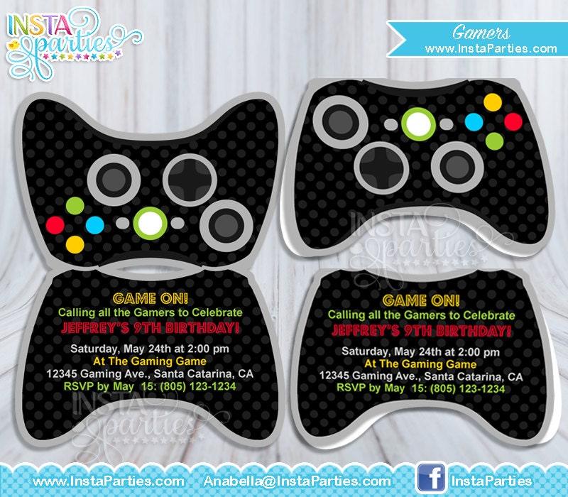 Gamer xbox Invitations control / game truck birthday