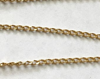 """Vintage 14K Yellow Gold 20"""" Cuban or Curb Link Chain Necklace 7 grams Italy"""