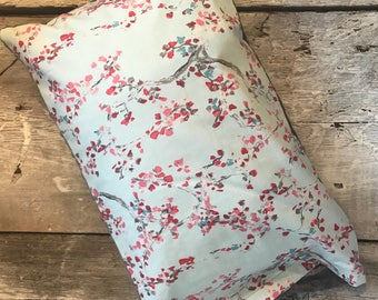 Baby buckwheat scales pillow, cherry trees, minky side can be different color