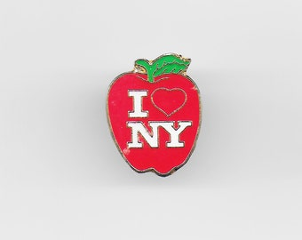 Vintage I LOVE NEW YORK Lapel Pin, Enamel Pin, Pinback, Big Apple, Nyc, Statue of Liberty, Usa, 80s, 90s