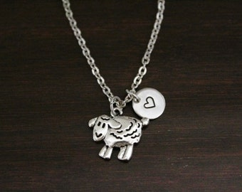 Sheep Necklace - Sheep Gift - Sheep Lover - Animal Lover - Farm Gift - Ewe Jewelry - Lamb Lover - Lamb Jewelry - I/B/H