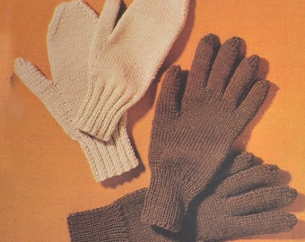 PDF vintage knitting pattern men's mittens gloves pdf INSTANT download pattern only pdf