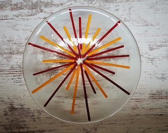 Hand made glass bowl
