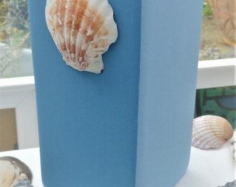 Sky. Seaside inspired two tone sky blue vase