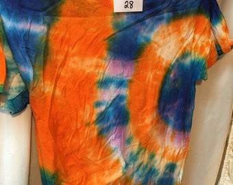 Tie Dyed T-Shirt Adult Medium  (AM-28)