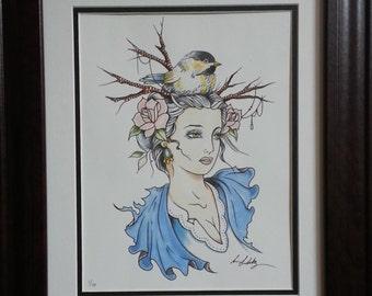 "Framed Art Print - ""Vintage Spring"" by Sean."