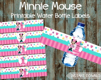 Printable Birthday Decorations Free ~ Minnie mouse party etsy