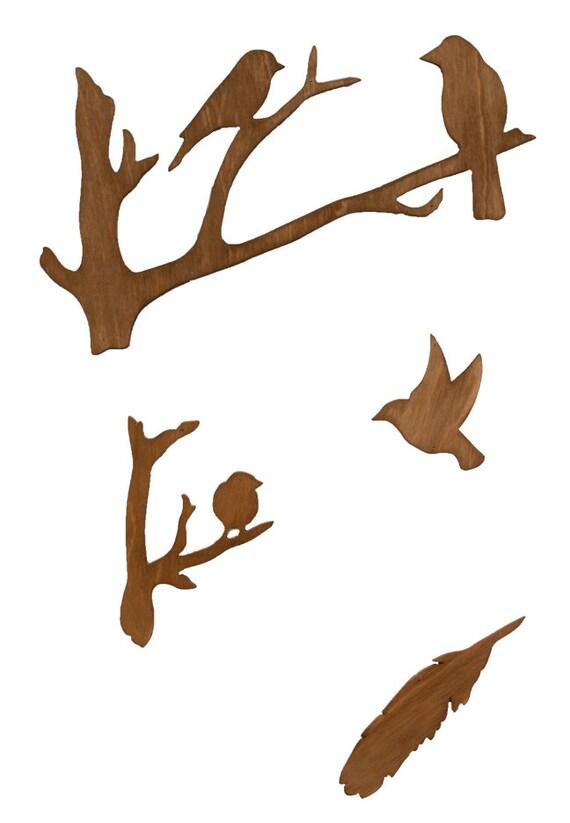Vogel Holz vögel und feder vogel aus holz mobile mobile holz vogel