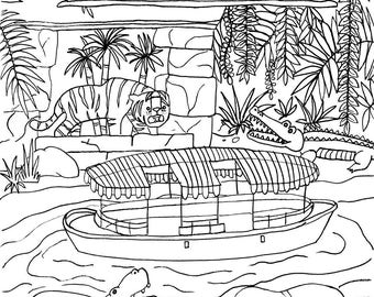 Disney Inspired Disney Coloring Page Splash Mountain Ride