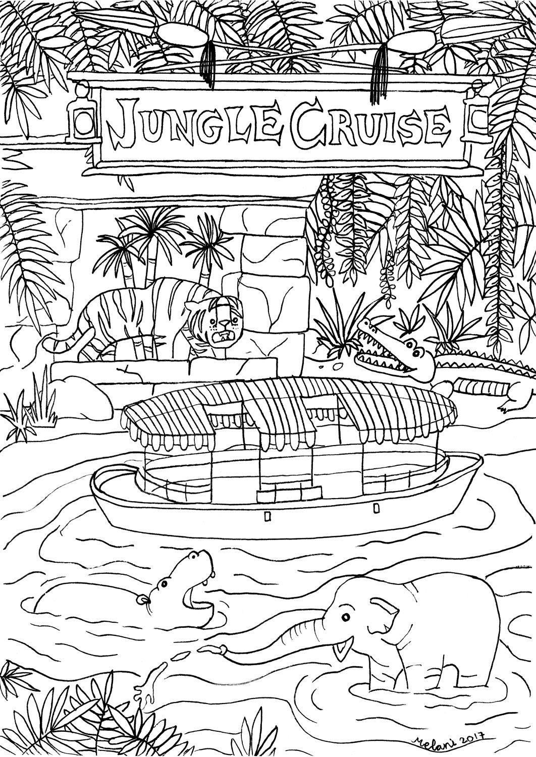 Disney Inspired Jungle Cruise Coloring