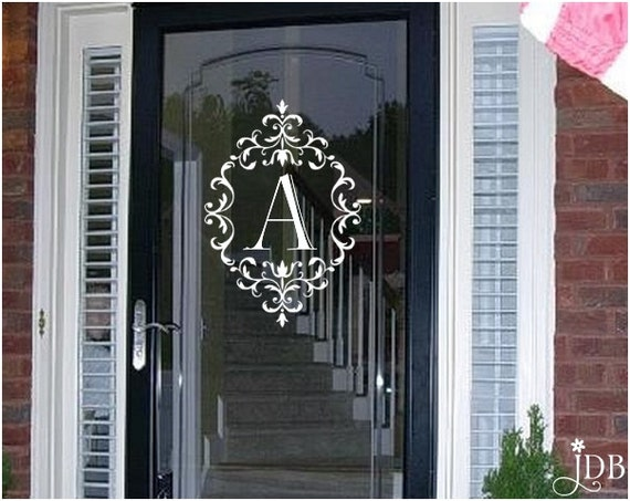 Personalized Monogram Glass Storm Door Decal Door Decal