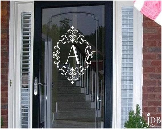 PERSONALIZED Monogram Glass Storm Door Decal Door Decal