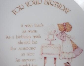 Hollie Hobbie Happy Birthday Plate