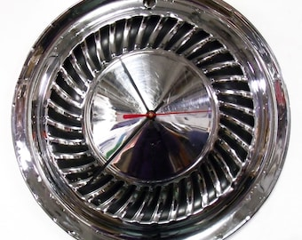 1959 - 1960 Ford Thunderbird Galaxie Fairlane Wall Clock - 1950's Classic Car Hubcap - Hub Cap Art - Father's Day Gift - Mens Gift