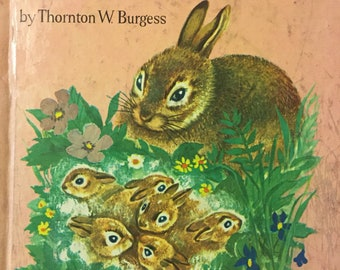Little Peter Cottontail Vintage Children's Book  by Thornton W. Burgess