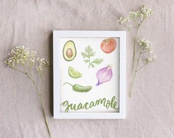 Guacamole Ingredient Print