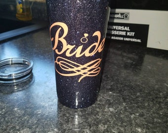 Glitter epoxy cup with design