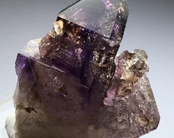 Rare 37.9g High Grade Brandberg Amethyst Smokey Quartz Crystal w/Phantoms, Record Keepers & Hematite