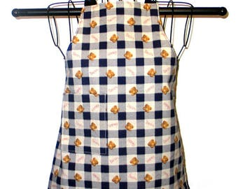 Childs Apron Ages 2 to 4 Honey Bears Reversible Adjustable Kids