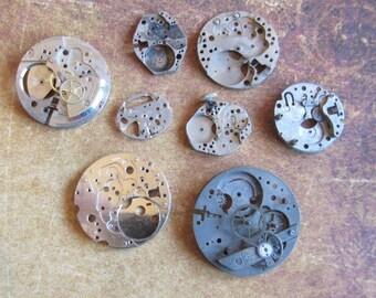 Featured - Steampunk supplies - Watch movements - Vintage Antique Watch movements Steampunk - Scrapbooking s22