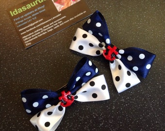 Rockabilly 50s style anchor bows