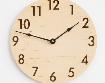 Modern Clock, Rustic Style, Large Clock, Large Wall Clock, Wooden Wall Clock, Kitchen Clock, Dining Room Clock, Wood clock