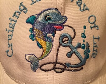 Cruising is a Way of Life Dolphin Hat