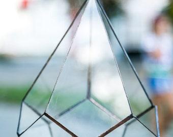 Geometric Glass Pot, Succulent Terrarium, Air Plant Planter
