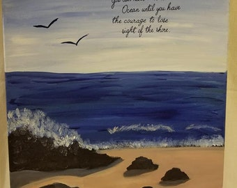 Ocean Shore Acrylic Painting