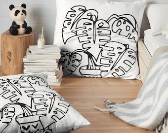 plant throw pillow , throw pillow , pillow cover , cactus pillow , decorative pillow , botanical pillow , plant pillow , palm pillow , leaf