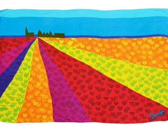 Pareo, beach towel, Danga tulip fields