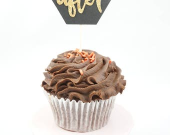 12 Cupcake Topper - Ever After
