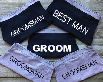 Groom - Mr - groomsman - best man - boxers - briefs - gift - bridal - party - funny - practical - wedding